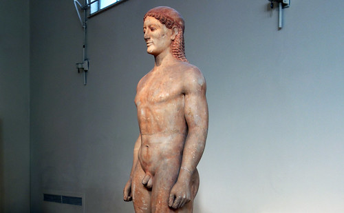 Anavysos Kouros viewed from right, c. 530 B.C.E.