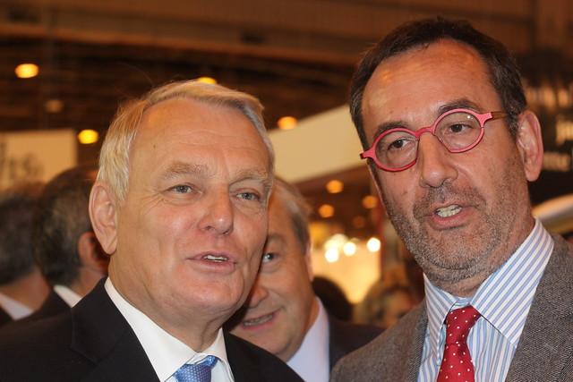 Jean-Marc Ayrault et Arnaud Nourry