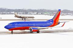 Southwest 737-300 in a Snowstorm DAL N632SW