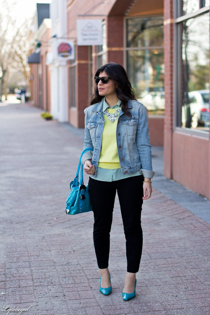 yellow sweater, mint blouse, denim jacket-3.jpg