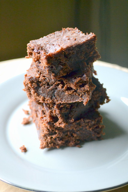 thick peanut butter brownies