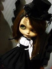 brown, clothing, skin, girl, head, goth subculture, fashion, female, beauty, dress, black, doll, eye, toy,