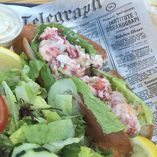 First lobster roll of the season flickr photo sharing for Southold fish market