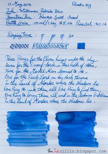 Waterman Blue on Rhodia