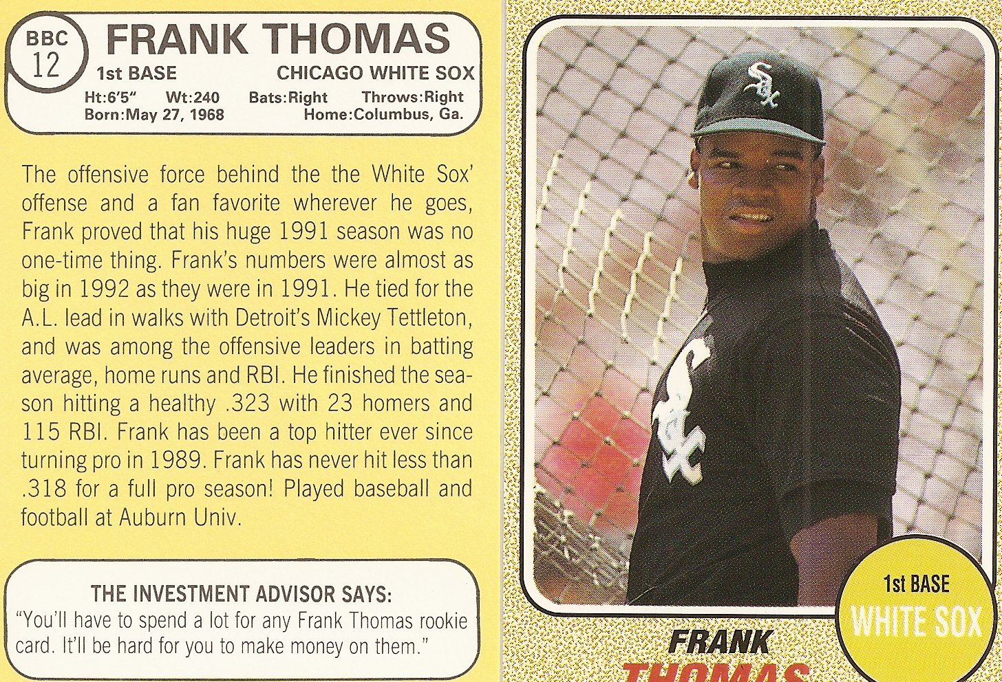 Frank Thomas Price List Supercollector Catalog