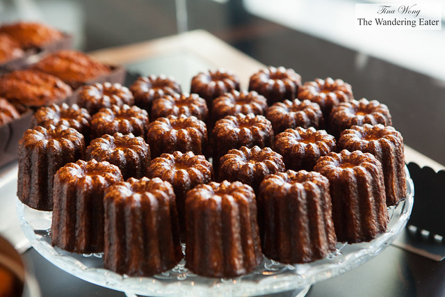 Platter of cannelés