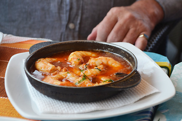 Garlic prawns, Restaurant Pantalan, Las Galletas, Tenerife