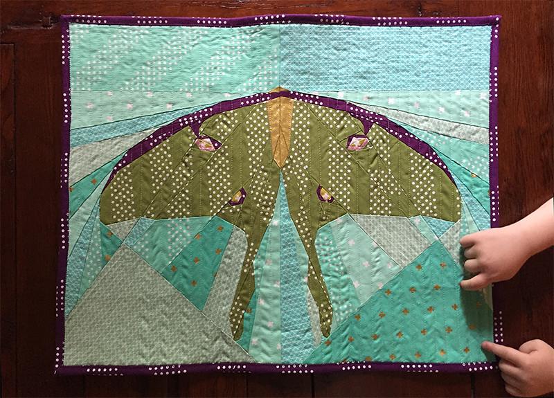 Luna Moth and Little Hands