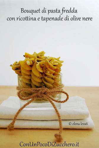 Bouquet di pasta fredda alle olive br