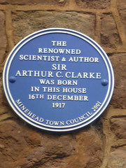 Photo of Arthur C. Clarke blue plaque