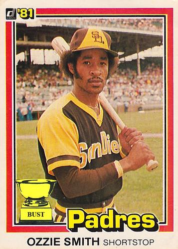 Baseball Card Bust Ozzie Smith 1981 Donruss