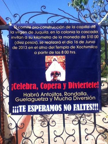 Celebra, Copera y Diviertete! Hoy en el atrio del Templo de Xochimilco @ Oaxaca 06.2013 @PadreUVI