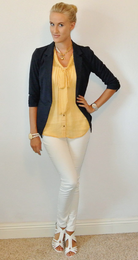 OOTD: navy and yellow
