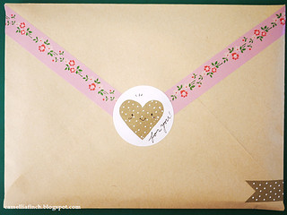 masking tape envelope decor