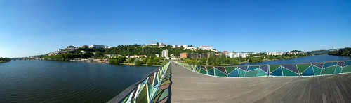 bridge panorama portugal river wide unesco ponte 180 coimbra mondego pedroinês fujifilms6500 ruinunes