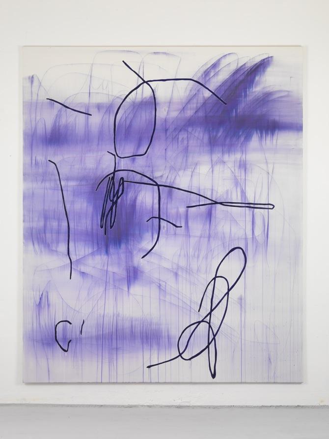 20 Jana Schröder, Spontacts, L 6, 2012, 240 x 200 cm, Kopierstift und Öl auf Leinwand