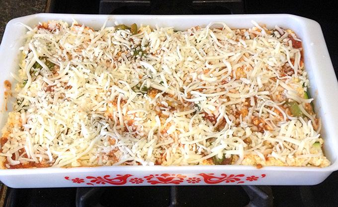No Noodle Vegetarian Zucchini Tofu Lasagna