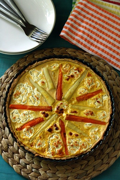 Carrot & Goat Cheese Quiche