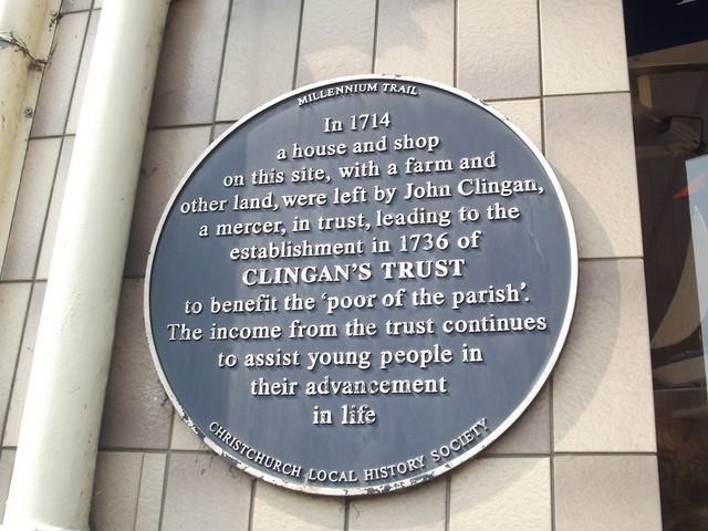 Photo of  John Clingan and Clingan's Trust blue plaque