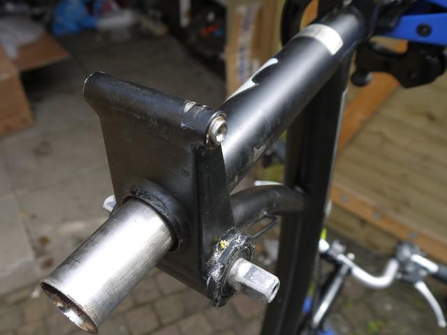 Brompton frame repair. 13