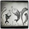 There's a fishy talk going... #sea #fish #doodle #illustration #marichams
