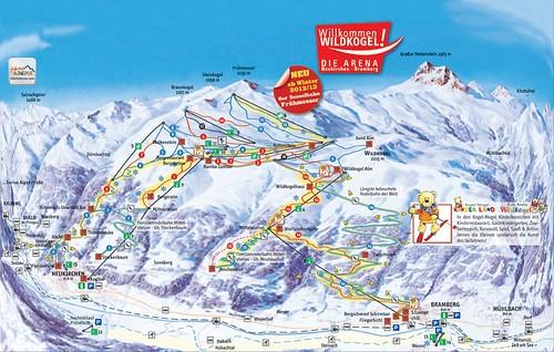 Wildkogel - mapa sjezdovek