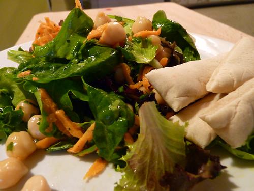 Salade de pois chiche au mesclun