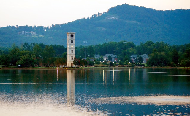 Furman Tower and Mountains