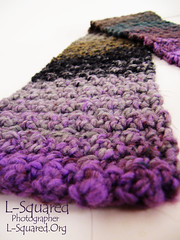 Close-up of one of the straight ends of the scarf.