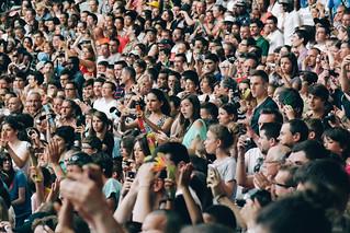 Spectators at the Paris Diamond League