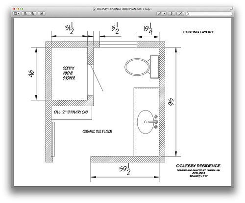 Help with 7x8 bathroom layout for 6 x 14 bathroom layout