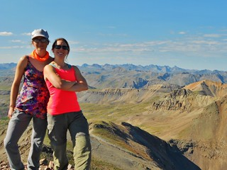 Erin and Clare on Summit of Jones Mountain (13,860 ft)