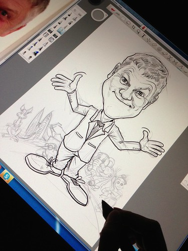 digital caricature for Weatherford - progress