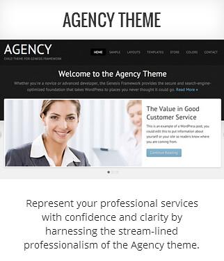 Genesis child theme Agency