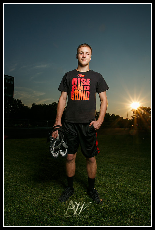 Rochester NY Senior Portrait Photographer Henrietta Rush Firefighter Wrestling football