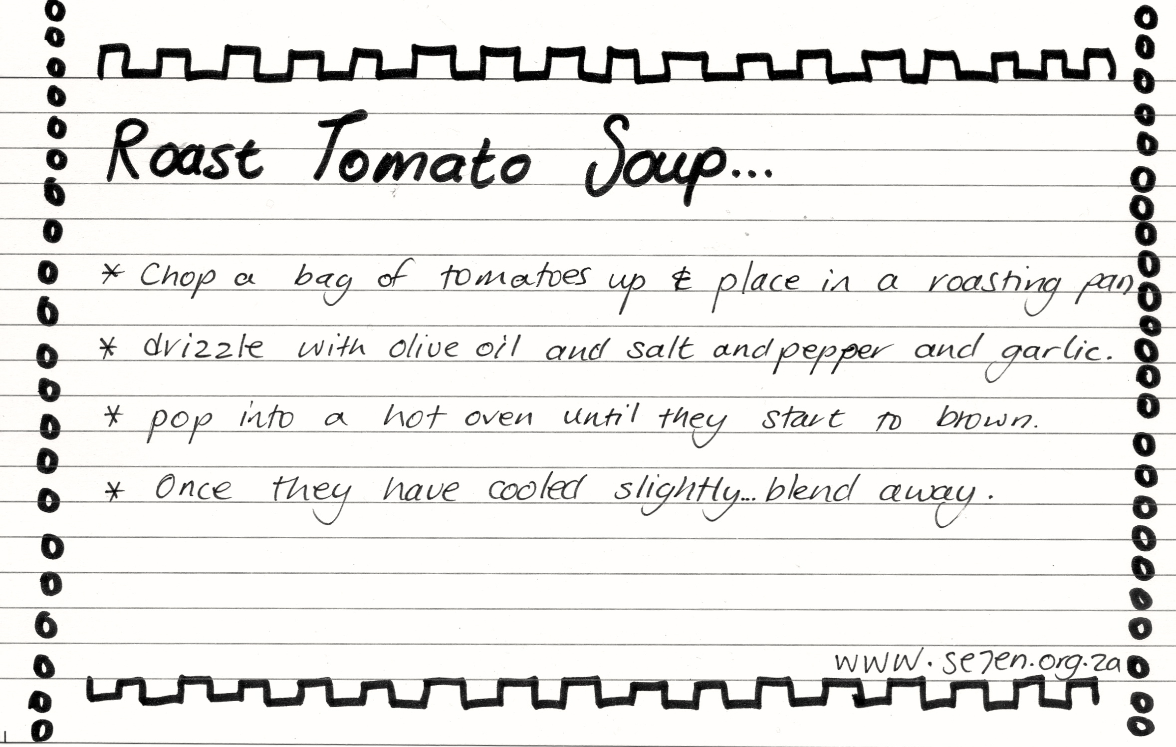 recipe card Roast Tomato