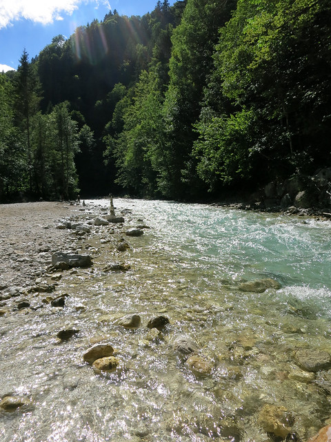 Raging glacial waters