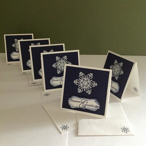 First in a set of cards for 6 pastors wives #Christmascards #stampinup #3x3cards