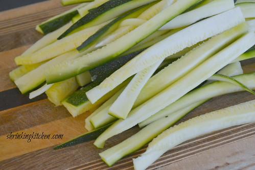 handcut zucchini 2