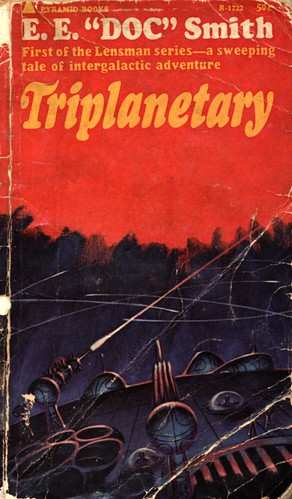 "Triplanetary by E.E. ""Doc"" Smith. Pyramid 1965. Cover artist Jack Gaughan"