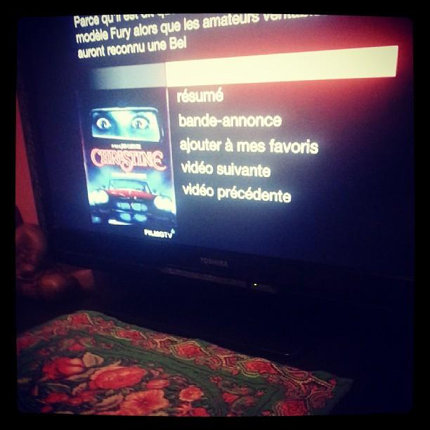 Se soir on regarde Christine en amoureux.♥♡♥ #souvenir #film