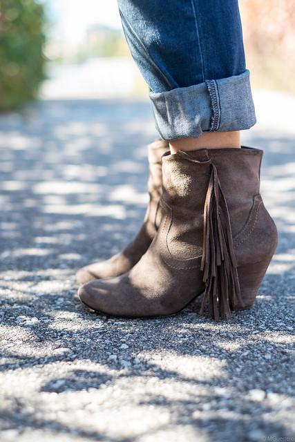 Steve Madden fringe boots, Steve Madden tassel boots, brown suede fringe boots