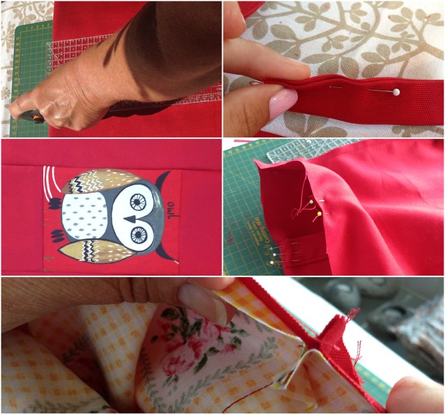 Cutting fabric and sewing a tote