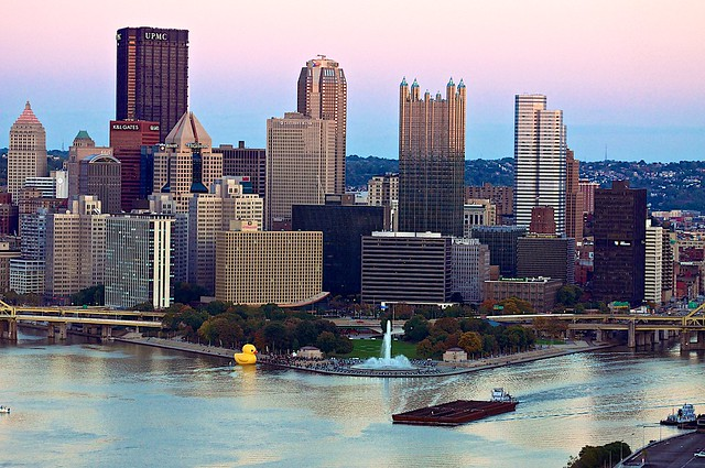 Giant Rubber Duck's Last Night in Pittsburgh