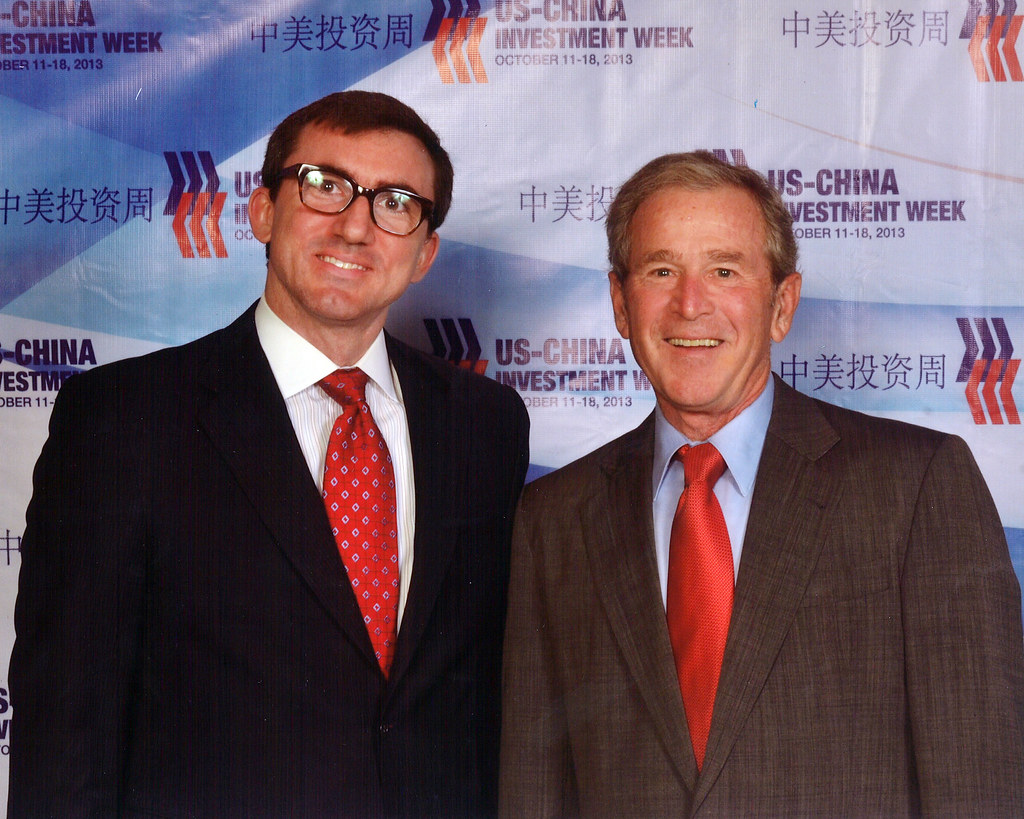 President Bush with Dan Healy