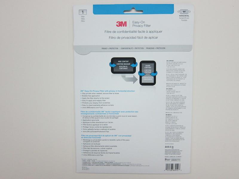 3M Screen Protectors - Packaging Back