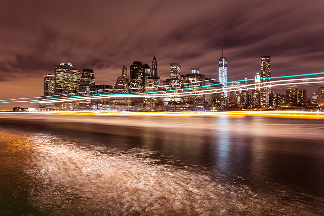 Bright lights, big city: Manhattan skyline from DUMBO *3*