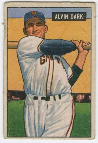 1951 Bowman Al Dark