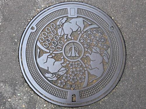 Oyabe Toyama, manhole cover (富山県小矢部市のマンホール)