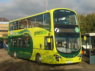 First Beeline (Green Line) 37998 (BF63 HDX) on Route 702, Bracknell
